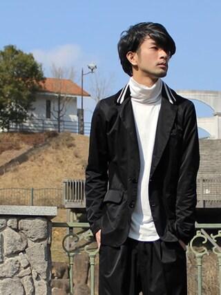 yoshiさんの「Harry tailored JKT(glamb|グラム)」を使ったコーディネート