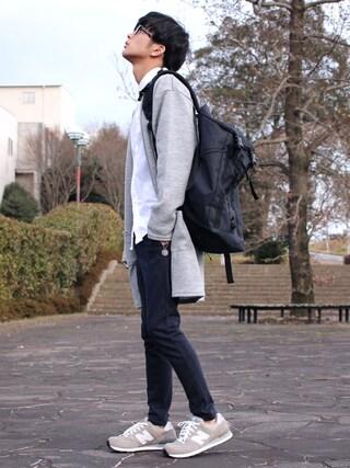 「WEGO/Wフェイスニットロングカーディガン(WEGO)」 using this yoshi looks