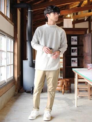 yoshiさんの「-A-ネップロールネックセーター(SENSE OF PLACE by URBAN RESEARCH|センス オブ プレイス バイ アーバンリサーチ)」を使ったコーディネート