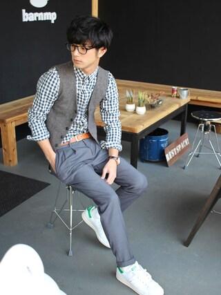「[アディダス] BC ADIDAS STANSMITH スニーカー(adidas originals)」 using this yoshi looks