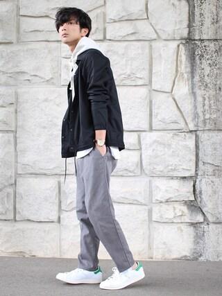 「CARREMANシャツアウター(BASECONTROL)」 using this yoshi looks