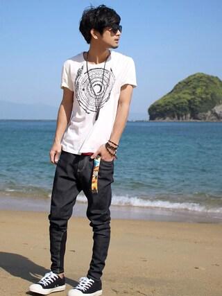 「Poly denim(glamb)」 using this yoshi looks