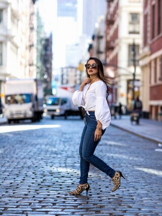 「Levi's Mile High Super Skinny Jeans(Levi's)」 using this Jennifer Puente looks