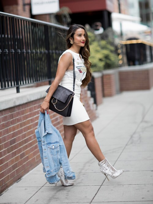 「Missguided Denim Mini Skirt(Missguided)」 using this Jennifer Puente looks