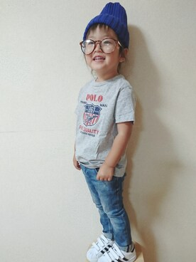 RiRiKaさんの「コットン ジャージー グラフィック Tシャツ(Polo Ralph Lauren Childrenswear ポロ キッズ)」を使ったコーディネート