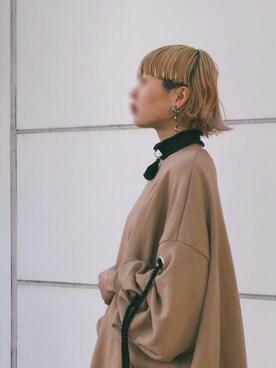 ꧁ばら꧂🖇さんの「【予約】CURLY HAIR EARRINGS(PAMEO POSE|パメオポーズ)」を使ったコーディネート