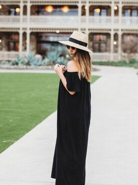 「ASOS Petite ASOS PETITE Off Shoulder Maxi Dress(Asos)」 using this Stephanie Drenka looks