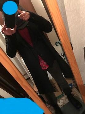 """さくさく is wearing KAZUYUKI KUMAGAI ATTACHMENT """"オフスケールメルトンロングコート"""""""