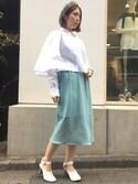 MIYUさんの「TARO HORIUCHI パンチングストレートスカート(TARO HORIUCHI|キジマ タカユキ)」を使ったコーディネート