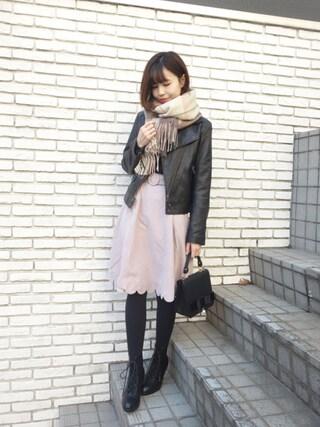 F i.n.t Daikanyama Fi.n.tdaikanyamaさんの「裾スカラップフレアースカート/F i.n.t(F i.n.t フィント)」を使ったコーディネート