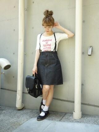F i.n.t Daikanyama|Fi.n.tdaikanyamaさんの「ロゴプリント5分袖T/F i.n.t(F i.n.t|フィント)」を使ったコーディネート