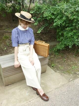F i.n.t Daikanyama|Fi.n.tdaikanyamaさんの「ボリューム袖マリンカラーシャツ/F i.n.t(F i.n.t|フィント)」を使ったコーディネート