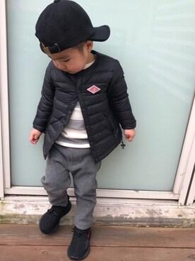sayaさんの「adidas Originals(アディダス オリジナルス)Yeezy Boost 350 V2 INFANT(adidas originals|アディダスオリジナルス)」を使ったコーディネート