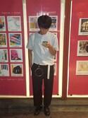 「リネンコットンスタンドカラーシャツ(半袖)+EC(ユニクロ)」 using this 拓哉 looks