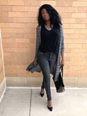 「Levi's® 710 Super Skinny Jeans, Cliff Shadow Wash(Levi's)」 using this Marissa looks