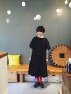 地味にずーっとひいてた風邪がやっと治ってきたのでやっと首があいた洋服が着れました�� セットアップはインスタで購入したmizuki._さん(http://1993331.jimdo.com/)のハンドメイド。 タイツはyockaで購入したもの。 どちらも去年の冬に購入し、大活躍したものです。