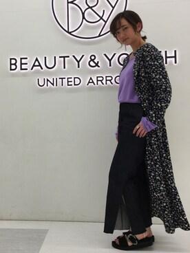 BEAUTY&YOUTH UNITED ARROWS Seina Yamanamiさんの(6(ROKU) BEAUTY&YOUTH UNITED ARROWS ロク ビューティアンドユースユナイテッドアローズ)を使ったコーディネート