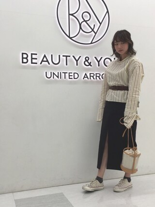 BEAUTY&YOUTH UNITED ARROWS|Seina Yamanamiさんの(6(ROKU) BEAUTY&YOUTH UNITED ARROWS|ロク ビューティアンドユースユナイテッドアローズ)を使ったコーディネート