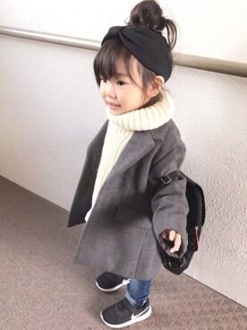yuu☆さんの「チェスターコート(BRANSHES|ブランシェス)」を使ったコーディネート
