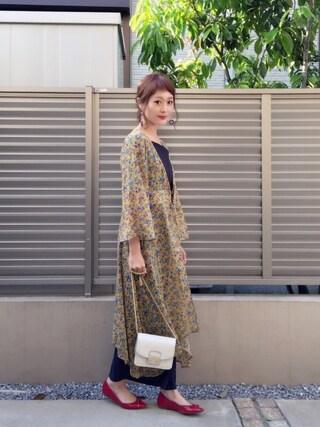 syk***さんの「テレコハートネックプルオーバー(natural couture ナチュラルクチュール)」を使ったコーディネート