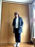チーコさんの「バスクベレー帽(SHOO・LA・RUE|ムジルシリョウヒン)」を使ったコーディネート
