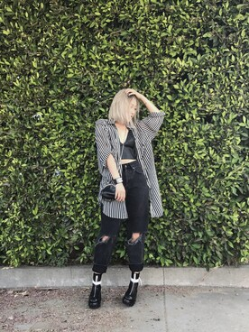 「Moto black ripped hayden jeans(TOPSHOP)」 using this Sharon looks