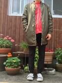 naoyaさんの「MEN ジョガーパンツ(ウルトラストレッチ・レングス69~73cm)(ユニクロ|ユニクロ)」を使ったコーディネート