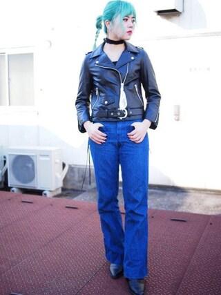 CANNABIS LADIES 新宿 Haruna Akiyamaさんの「daughter Riders(CANNABIS LADIES カンナビス レディース)」を使ったコーディネート