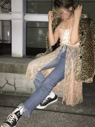 CANNABIS LADIES 新宿 Haruna Akiyamaさんの「【CANNABIS LADIES別注】Kriss Soonik SUL07 Susan Lace Gown(Kriss Soonik クリス・ソニック)」を使ったコーディネート