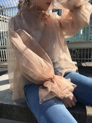 CANNABIS LADIES 新宿 Haruna Akiyamaさんの「【CANNABIS LADIES別注】SIIILON SLSS17B04 Finola(CANNABIS LADIES カンナビス レディース)」を使ったコーディネート
