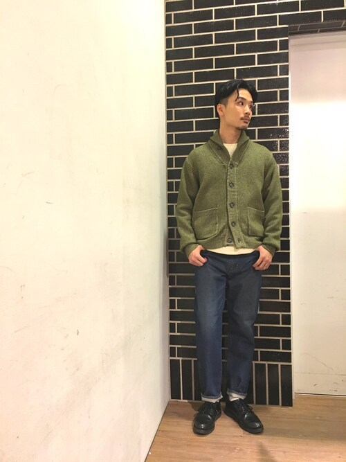 SEVENDAYS=SUNDAYアリオ橋本shigeさんのカーディガン「・メランジニット ショールカーディガン(SEVENDAYS=SUNDAY|セブンデイズサンデイ)」を使ったコーディネート