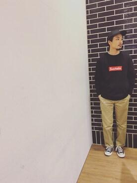 SEVENDAYS=SUNDAYアリオ橋本|shigeさんのTシャツ/カットソー「・フェイクレイヤード 長袖プルオーバー(SEVENDAYS=SUNDAY|セブンデイズサンデイ)」を使ったコーディネート