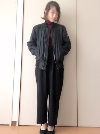 akiさんの「UR ポンチワイドタックパンツ(URBAN RESEARCH|アーバンリサーチ)」を使ったコーディネート