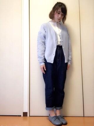 akiさんの「SAUNDERS/ソーンダース パテントレザー (WOMEN)(BIRKENSTOCK|ビルケンシュトック)」を使ったコーディネート