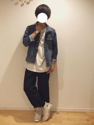 yu(ゆー)さんの「WEGO/デニムジャケット(WEGO|ウィゴー)」を使ったコーディネート
