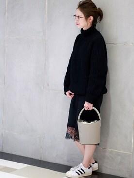 Spick & Span ルミネ新宿店|YuCOさんの「【SLOANE】 3Gアゼアミタートルネックチュニック◆(Spick & Span)」を使ったコーディネート