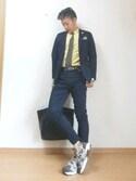 たかボンドiさんの「【Begin掲載】BEAMS / ストレッチ チノ 2B ジャケット(BEAMS|ビームス)」を使ったコーディネート