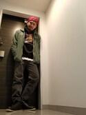 「CHAMPION SNAPBACK CAP BIC C RED(Champion)」 using this Takumi Endo looks