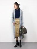 mihiroさんの「【撥水加工】【Sサイズ展開】ストレッチカラータイトスカート/744426(BLISS POINT|ブリスポイント)」を使ったコーディネート