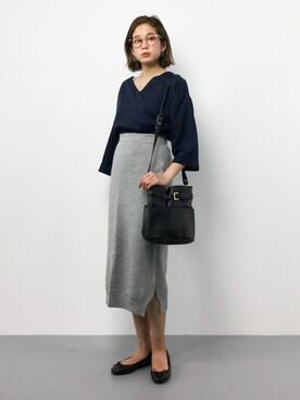 ZOZOTOWN|mihiroさんの「ミラノリブライクタイトロングスカート(COLONY 2139)」を使ったコーディネート