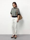 mihiroさんの「2トーンメッシュクルーネックボリューム袖プルオーバー(CHILD WOMAN|チャイルドウーマン)」を使ったコーディネート