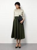 mihiroさんの「カラーボリュームスカート(Re.Verofonna|ヴェロフォンナ)」を使ったコーディネート