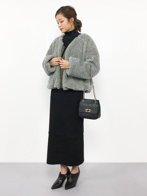 ZOZOTOWNmihiroさんのスカート「7Gリブニットスカート◆(LIMITLESS LUXURY|リミットレスラグジュアリー)」を使ったコーディネート