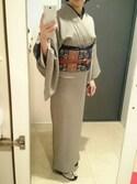 着物まわり研究員*豆菊*さんの(鮫小紋)を使ったコーディネート