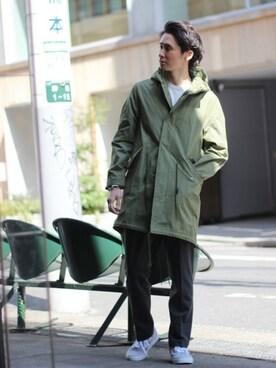 EDIFICE TOKYO 渋谷店|KIMさんのモッズコート「◇C/N ライトツイルモッズコート(417 EDIFICE|フォーワンセブン エディフィス)」を使ったコーディネート