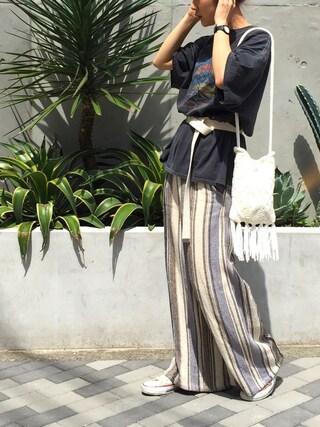 LIFE's堀江店|SAAYA KOUZAWAさんの(TODAYFUL|トゥデイフル)を使ったコーディネート