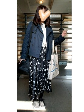 Ninaさんの「花柄ロングテールスカート(archives|アルシーヴ)」を使ったコーディネート