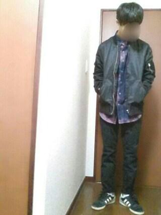 【daiki】さんの「WEGO/ナイロンMA-1(WEGO ウィゴー)」を使ったコーディネート