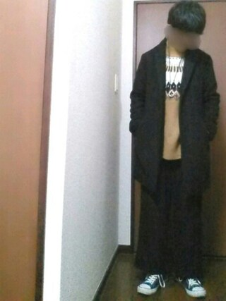 【daiki】さんの「WEGO/メルトンチェスターコート(WEGO ウィゴー)」を使ったコーディネート