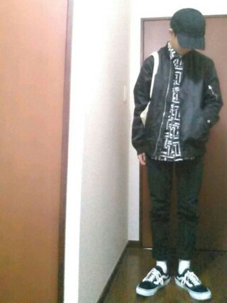 【daiki】さんの「VANS ヴァンズ OLD SKOOL DX オールドスクール DX V36CL+ BLACK(VANS バンズ)」を使ったコーディネート